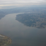 Seattle from the plane
