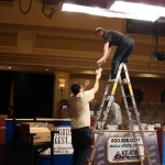Mike and Pat change the lights