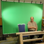 Jerry & me on greenscreen