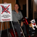 Bill Stock and his scooter