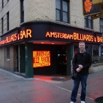 Mike in front of Amersterdam Billiards